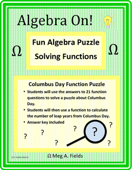 Fun Algebra Puzzles - Solving Function Problems