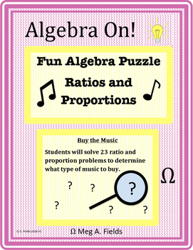 Fun Algebra Puzzle - Solving Ratio and Proportion Problems