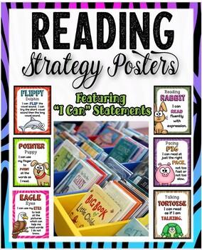 Fun Animal Reading Strategies Poster Pack