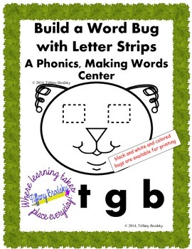 Fun Bug Build a Word Phonics, Making Words Reading Center;