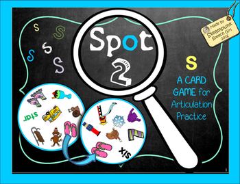Spot 2!  Fun Card Game for Articulation Groups:  S