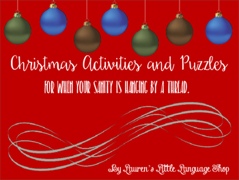Fun Christmas Activities for When Your Sanity is Hanging b