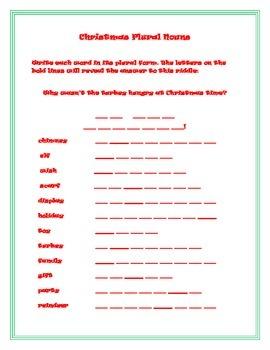 Fun Christmas Parts of Speech Pack