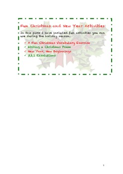 Fun Christmas and New Year Activities