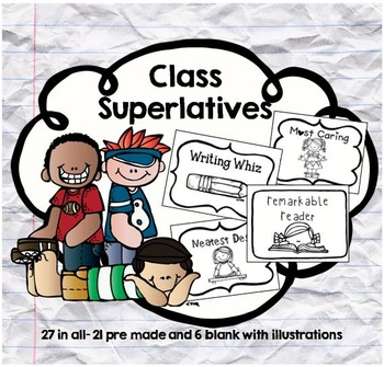 Fun Class Superlatives-Great for End of the Year!