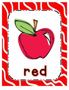 Fun Color Posters for Pre K, Kinder