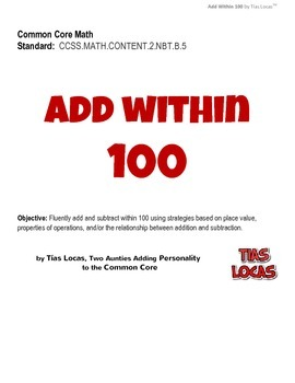 Fun Common Core Math Worksheets - Add Within 100 - Grade 2