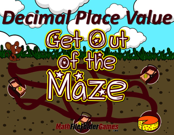 Fun Decimal Place Value Worksheets / Mazes