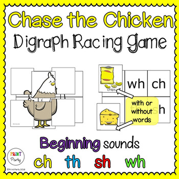 Fun Digraph Reading Center Racing Game - Chase the Chicken