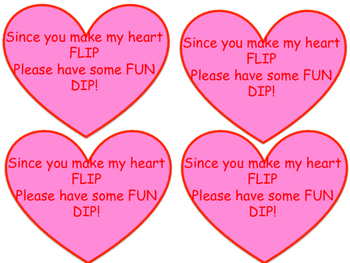 Fun Dip Valentines Tags