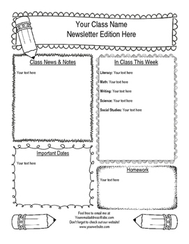 Fun Editable Doodles Weekly Newsletter