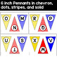 Editable Pennants in Primary Colors (blue, red & yellow)