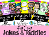 Fun Facts: Jokes Edition {Self-Checking Task Cards}