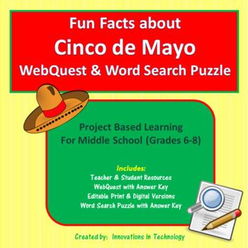Fun Facts about Cinco de Mayo - Internet Scavenger Hunt /