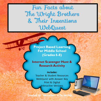 Fun Facts about the Wright Brothers - Internet Scavenger Hunt