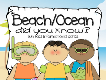 Fun Facts {beach and ocean}