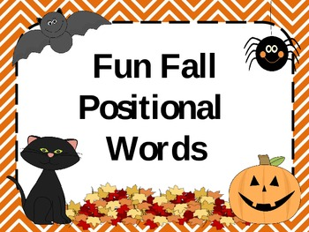 Fun Fall Positional Words