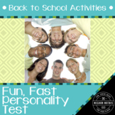 Back to School Activities - Fun, Fast Personality Test