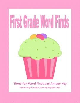 Free Fun First Grade Word Finds