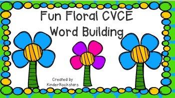 CVCE Word Building Fun Floral Theme
