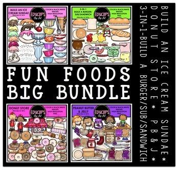 Fun Foods Clip Art Big Bundle