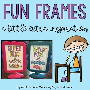 Fun Frames {a little extra inspiration!}