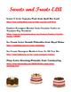 Fun Free Printables for Preschool Food--Sweet Treats and H