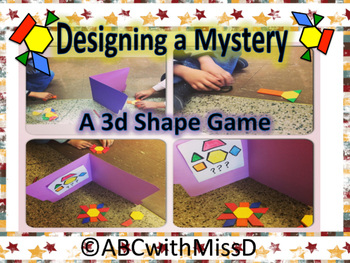 Math Center Freebie- 3D Shape Mystery Patterns to Reinforc