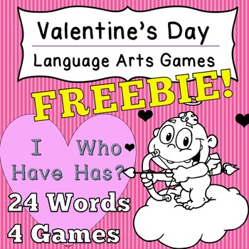 [Fun Freebie] Language Arts Valentine's Day Game I Have Wh