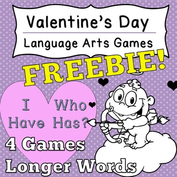 [Fun Freebie] Language Arts Valentine's Day Game I Have Wh