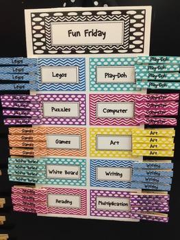 Fun Friday Activity Chart