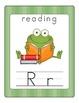Fun Frog Alphabet Line (Traditional Print)- Green