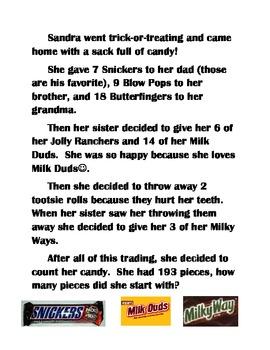 Fun Halloween Multi-Step Word Problems by Keep Calm and Love Math ...