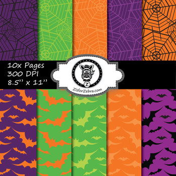 Fun Halloween Themed paper pack - Commercial Use OK!