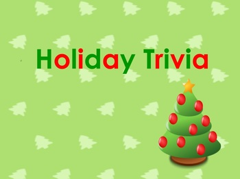 Christmas Holiday Trivia - 100 Questions - PDF format for
