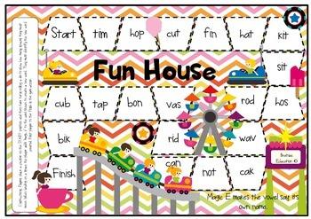Fun House Magic E Board Game