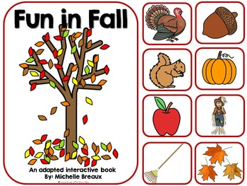 Fun In Fall-Adapted Interactive Book {Autism, Early Childh