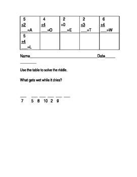 Fun Math Sheet