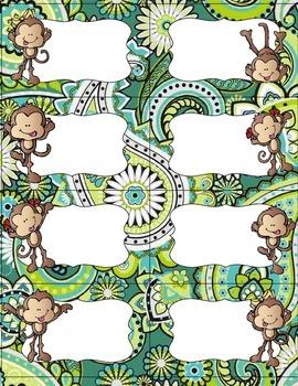 Fun Monkey Label Set