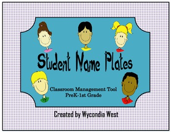 Fun Name Plates for Classroom Management (purple)