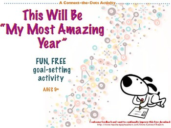 Fun Free 2016 New Years Goal Setting Activity for Elementa