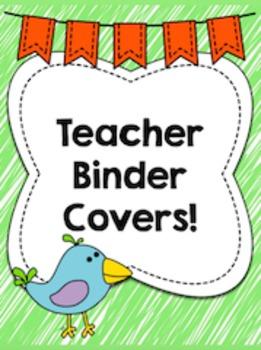 Teacher Binder Covers!