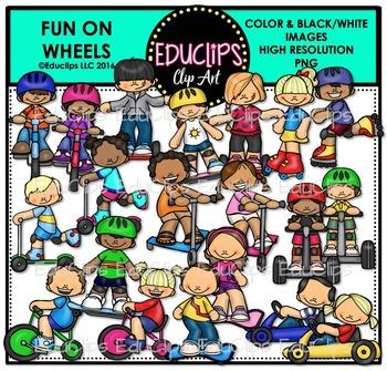 Fun On Wheels Clip Art Bundle