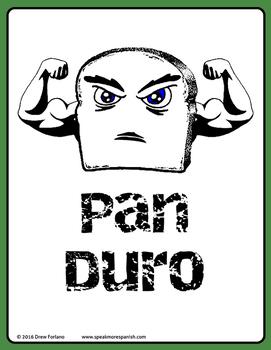 Fun Pan Duro Poster *Gratis* - FREE - Aprende la palabra DURO