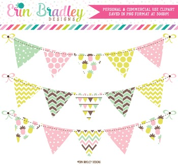 Fun Pineapples Bunting Clipart