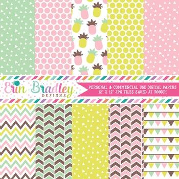 Fun Pineapples Digital Paper Pack
