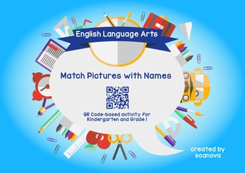 Fun QR Code Vocabulary Activity (Match Pictures with Words)