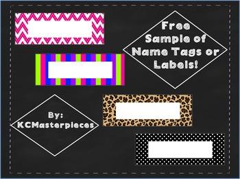 Fun Sampling of Name Tags or Labels