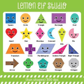 Fun Shapes-Digital Clipart (LES.CL44)