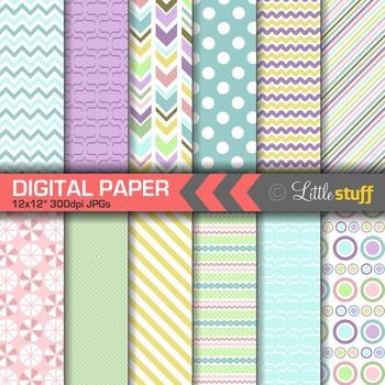 Fun Spring Pattern Digital Papers